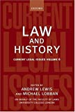 img - for Law and History: Current Legal Issues 2003 Volume 6 book / textbook / text book