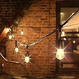 48 Foot Connectable Heavy Duty 15-Socket Vintage Festoon Light Strand with Bulbs