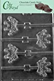 Cybrtrayd K139 Princess Crown Pops Chocolate Candy Mold with Exclusive Cybrtrayd Copyrighted Chocolate Molding Instructions