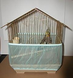 Sheer Guard Bird Cage Skirt - Large (Aqua)