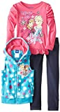 Disney Little Girls' Anna and Elsa Vest Set
