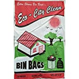 20 Pcs Garbage Trash Waste Dustbin Bags (29 x 39 Inches / 74 x 99 cms)