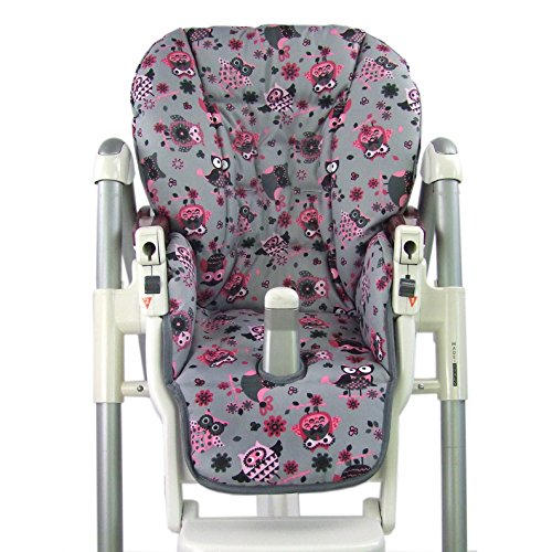 Babys-Dreams-Sitzkissen-Bezug-Ersatzbezug-fr-Peg-Perego-Prima-Pappa-Diner-MOTIV-EULE-12-NEU