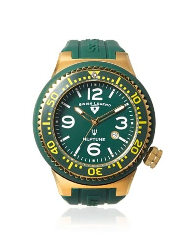 Swiss Legend Men's 21818S-F-GBP Neptune Green Silicone Watch