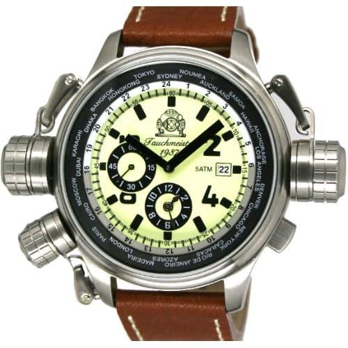 """[トーチマイスター1937]Tauchmeister1937 腕時計 ドイツ製 2戦ドイツ軍用復刻""""ワールドツアー"""" GMTアラーム T0195 (並行輸入品)"""