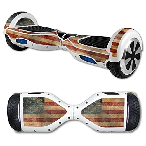 MightySkins Protective Vinyl Skin Decal for Hoverboard Self Balancing Scooter mini hover 2 wheel unicycle wrap cover sticker Vintage Flag