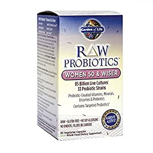 Garden Of Life Raw Probiotics Women 50 Wiser 90 Capsules Health Personal Care