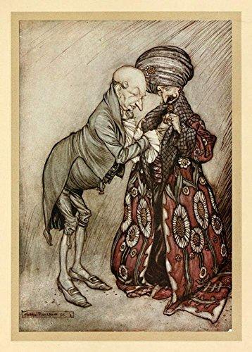 Arthur Rackham-L' abito, da Peter Pan nei giardini di Kensington, by J.M. Barrie C1906250gsm Lucido Art poster A3di riproduzione