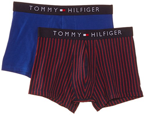 Tommy Hilfiger - Bóxer a rayas para hombre, pack de 2