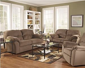 macie brown living room set by ashley