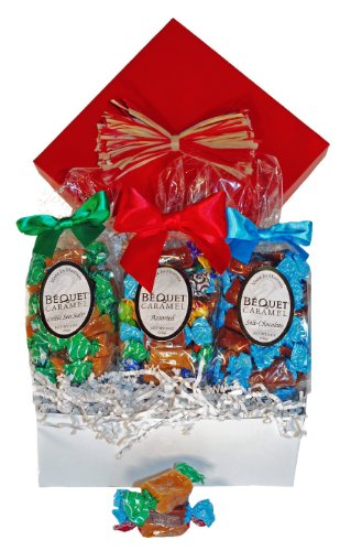 Bequet Caramels Gift Box – 3 bags of 8oz Bequet Caramels