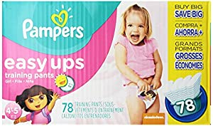 Pampers Easy Ups Training Pants, Size 4T5T Value Pack Girl, 78 Count