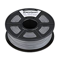 Excelvan 1.75mm PLA 3D Printer Filament - 1kg Spool (2.2 lbs) - Dimensional Accuracy +/- 0.02mm - Multi Colors Available (Silver) by Excelvan