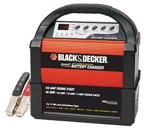 Black & Decker VEC1093DBD Smart Battery 40/20/10/4 Amp Battery Charger