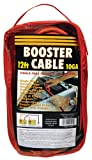 12 Feet Long, 10 Gauge 250 AMP No Tangle Battery Booster Cable / Jumper Cable