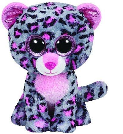 Ty Beanie Boo 6' Tasha The Grey and Pink Leopard - 1