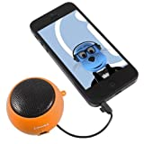 ITALKonline Amazon Kindle Fire HD Orange 3.5mm High Quality Portable Rechargeable Pop Up Mini Capsule Speaker with USB Charging Cable