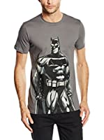 DC Comics Camiseta Manga Corta Batman (Ceniza)