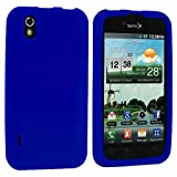Blue Silicone Rubber Gel Soft Skin Case Cover for LG Optimus Black P970 / LS855 / LG B