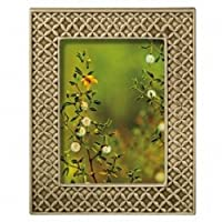 Grasslands Road Everyday Life Textiles Sterling Taupe Leaf Frame