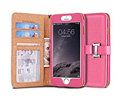 iPhone 6s (4.7) Case, [Snow Fairy] iPhone 6 (4.7) Flip Case [Wristlet Series][Wallet] Cash Pocket - Wrist Strap PU Leather Case for iPhone 6 (4.7) - Special Design ID Slot (IP6-PUL-C-001) iPhone 6s (4.7) ECO Package Pink