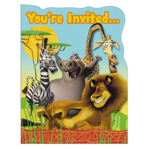 Madagascar: Escape 2 Africa Invitations (8 count)