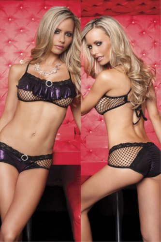 Fishnet ruffle top and short set from Silvermoon