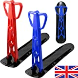 NEW SNOW SCOOTER SKI SLEDGE FOLDABLE SNOWBOARD RED BLUE BOARD KIDS BOYS GIRLS