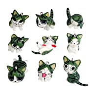 9pcs Cute Japan Konami Kanata Cat Phone Charm