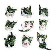 9pcs Cute Japan Konami Kanata Cat Phone Charm