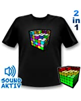 Cube Equalizer LED T-Shirt Party Retro Shirt