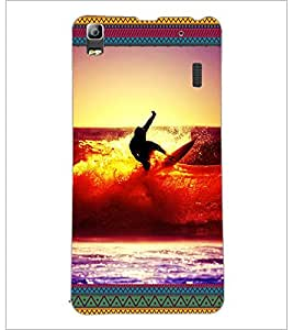 PrintDhaba Diving D-5699 Back Case Cover for LENOVO A7000 TURBO (Multi-Coloured)