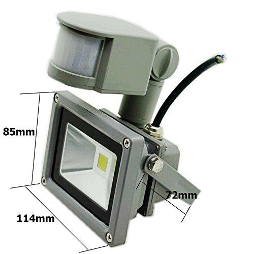 [New Design] ZHMA 12V 10W Motion Sensor Flood Light