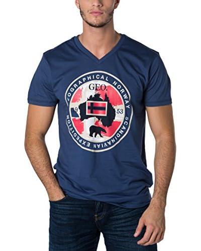 Geographical Norway Camiseta Manga Corta Snht Azul Marino
