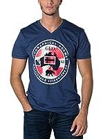 Geographical Norway Camiseta Manga Corta Snht (Azul Marino)