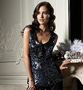 Autograph Sleeveless Sequin Bow Top - Marks & Spencer
