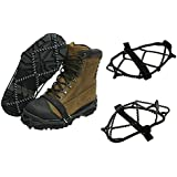 Glodeals(TM) 2x Anti-slip Ice Cleats Shoe Boot Tread Grips Traction Crampon Chain Spike Sharp Snow Walking Walker