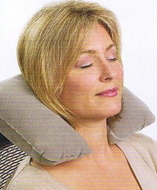 Talus SmoothTrip ST-PC3001-03GRY Inflatable Travel Neck Pillow - Grey