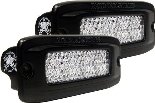 Rigid Industries 92552 Srq Amber 60° Lens Led Light Flush Mount, (Set Of 2)