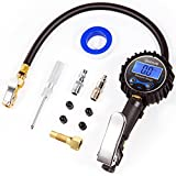 AstroAI Digital Tire Inflator with Pressure Gauge, 250 PSI Air Chuck and Compressor Accessories Heavy Duty with Rubber Hose and Quick Connect Coupler for 0.1 Display Resolution , Black
