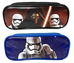 Disney Star Wars Pencil Case/Pouch Cute Design Set of 2