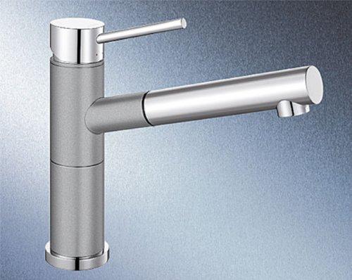 Blanco Alta-S Compact Alumetallic Grau Einhandmischer Hochdruck Armatur Küche