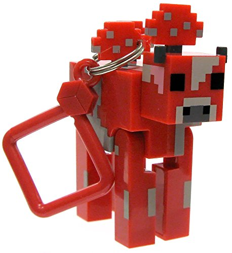 "Minecraft Hangers Series 2 Mooshroom 3"" Keychain"