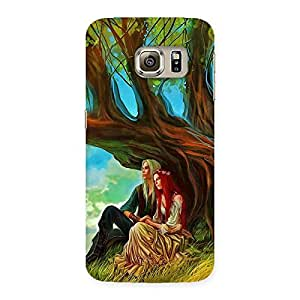 Gorgeous Couple Under Tree Multicolor Back Case Cover for Samsung Galaxy S6 Edge Plus