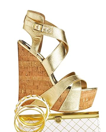 bebe Hannah Cork Wedge