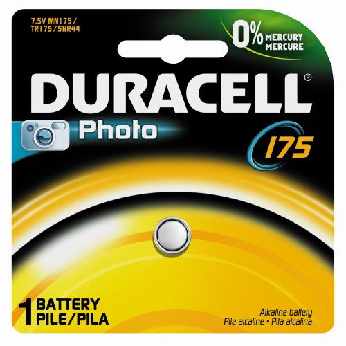 Duracell Ms76Bpk09 Primary Silver Oxide Button Cell Battery, Size 175, 1.5V, 180 Mah Capacity (Case Of 6)