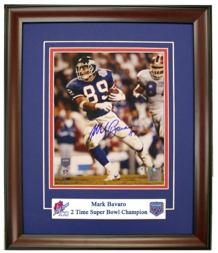 New York Giants Mark Bavaro Autographed, And Framed 8x10 Photo From Super Bowl XXV at Amazon.com