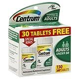 Centrum Multivitamin/Multimineral, Adults Under 50, 130 tablets