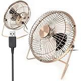Twitfish Art Déco de Cru de Bureau USB Fan / Ventilateur - 6''