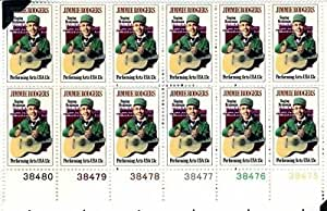 Jimmie Rodgers 12 13 cent US Stamps # 1755